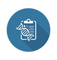 dna testing flat icon vector image