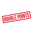 Double Points rubber stamp vector image vector image