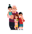 family portrait grandfather grandpa standing vector image