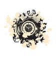 fashioned zodiac clock vector image vector image