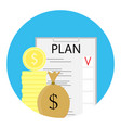 finance plan icon vector image vector image