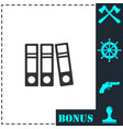 folders icon flat vector image