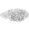 french cuisine text background word cloud concept vector image