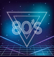 geometric 80s retro style with galaxy stars vector image vector image