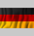 germany realistic waving flag national country vector image vector image