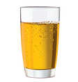 Glass of yellow juice vector image vector image