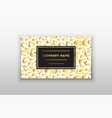 golden business cardgift or vip cards vector image