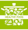 Healthy food vector image