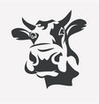 Holstein smiling cow portrait stylized symbol