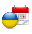 Icon of National Day in Ukraine vector image