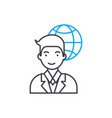 international corporation employee linear icon vector image