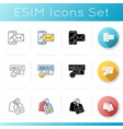 internet store icons set vector image vector image