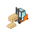 isometric counterbalance forklift vector image