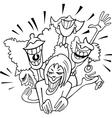 joyful group of women cartoon vector image vector image