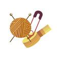 knitting hobby equipment to create stylish vector image