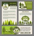 landscape eco design service set vector image vector image