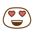lovely face emoji character vector image vector image