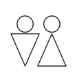 Man and woman black color icon