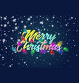 merry christmas colorful text title with bautiful vector image vector image