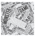 monster sudoku text background wordcloud concept vector image vector image