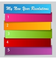 New Year Resolution List template vector image vector image