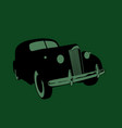 old time old car stylized drawing a retro car vector image vector image