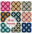 Ornamental floral seamless pattern background vector image vector image