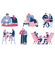 people taking coffee break flat isolated vector image vector image