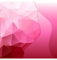 Pink polygonal mosaic background vector image