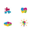 puzzle logo template vector image