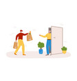 safe delivery concept - covid-19 vector image vector image
