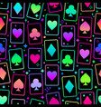 seamless bright multicolored playing cards of vector image