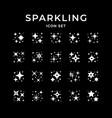 set icons sparkling and twinkling vector image
