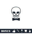 Skull icon flat vector image vector image