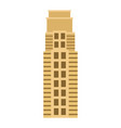 skyscraper building tower city business vector image vector image