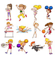 Sports set vector image vector image