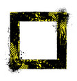 square abstract grunge race frame vector image vector image