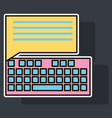 sticker flat line icon concept of new email inbox vector image