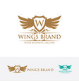 symbol emblem icon sign logo business letter vector image vector image