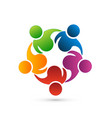 teamwork networking logo vector image vector image