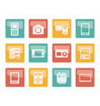 technical media and electronics icons vector image