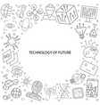 technology of future pattern vector image vector image