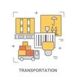 Thin line flat design banner for transportation vector image vector image