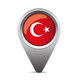 Turkey flag pointer vector image
