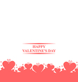 valentine gift pink vector image vector image