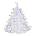 white christmas tree made of feathers and beads vector image