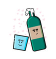 wine cute wine character vector image vector image
