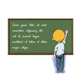write on blackboard vector image vector image