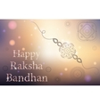 Happy Raksha Bandhan celebration vector image