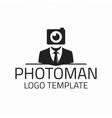 Photographer logo template vector image